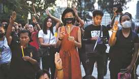 Hundreds join protest against ban of Thai opposition party