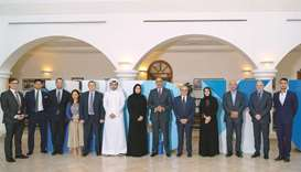 Hamad Bin Khalifa University and Brookings Doha Centre officials at the signing ceremony.