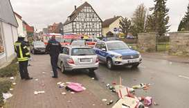 Car ploughs into carnival parade in German town