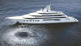 Amadea: the largest yacht ever to be displayed during the boat show.