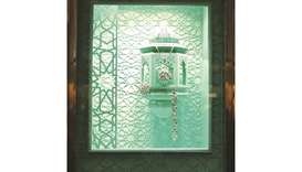 A Tiffany & Co. window inspired by the Doha Souq.