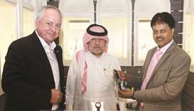 Abdullah al-Muftah, general manager, Al Muftah Jewellery; Hussain Mohamed and Alexander A, area mana