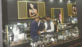 The Mehta & Sons and Anjali Bhimrajka Fine Jewels booth at DJWE 2020. PICTURE: Shemeer Rasheed