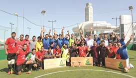 Winners of the annual al khaliji Football Tournament.