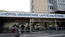 The entrance of the Pitie-Salpetriere Hospital in Paris