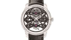 The intricate inner workings the new Neo-Tourbillon with Three bridges movement are fully revealed t
