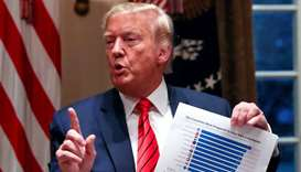 US President Donald Trump talks about preparedness to confront the coronavirus outbreak during a mee