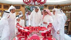 His Highness the Amir Sheikh Tamim bin Hamad Al-Thani visits DJWE