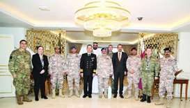 Chief of Staff meets military official at SHAPE