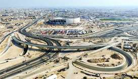Removing temporary traffic light on the interchange provides free traffic between Doha Expressway, E