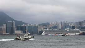 Thousands held on cruise ship in Hong Kong as authorities check for virus