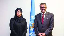 Health minister meets WHO director general in Geneva