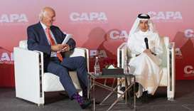 HE Akbar al-Baker with CAPA – Centre for Aviation Chairman Emeritus, Peter Harbison. The two-day 202