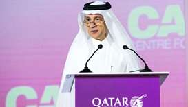HE al-Baker at the recent Qatar Aviation Aeropolitical and Regulatory Summit 2020 in Doha.