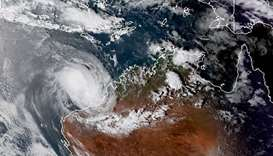 Cyclone nears Australia's west with heavy winds, risk of storm tide