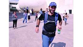 Dr Jeremie Arash Rafii Tabrizi sets off on a practice run from Weill Cornell Medicine-Qatar.