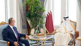Amir meets Turkish Foreign Minister