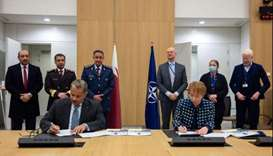 Qatar signs agreement to open offices at NATO HQ in Brussels