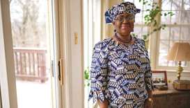 Nigeria's Ngozi Okonjo-Iweala poses at her home in Potomac, Maryland, near Washington DC, as she was