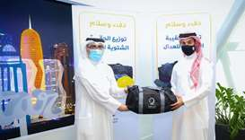 Qatar Charity receives in-kind donations from QFA