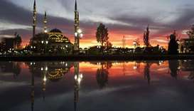 The Heart of Chechnya mosque in the capital Grozny.