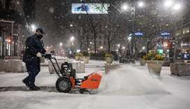 Major storm to hit northeastern US after dumping snow on capital