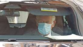 Prince Charles leaves the King Edward VII hospital in central London after seeing his father Prince