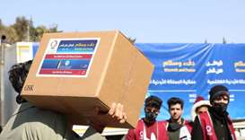 Qatar Charity distributes winter aid to Syrian, Palestinian refugees in Jordan