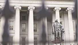 The US Treasury building in Washington, DC. President Joe Biden's $1.9tn relief plan, plus the prosp
