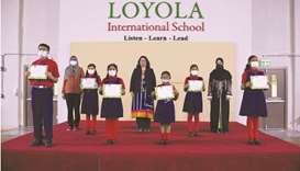 Loyola International School students shine at SOF General Knowledge Olympiad Examination
