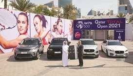 Qatar Total Open Tournament Director Saad al-Mohannadi (left) and Alfardan Premier Motors General Ma