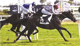 Hugo Journiac (right) rides Tawfan to victory in the Prix de la Promenade de la Plage in Cagnes-sur-