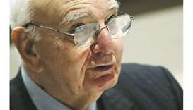 Former US Federal Reserve Chair Paul Volcker