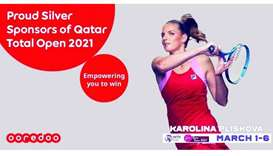 Ooredoo to be Silver Sponsor for 2021 Qatar Total Open