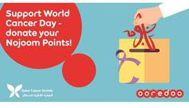 Ooredoo marks World Cancer Day with Nojoom Points donation drive