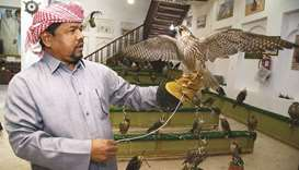 Noor Mohammad with a falcon. PICTURES: Jayan Orma