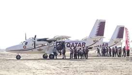 Qatar team tops on first day of parachuting championship