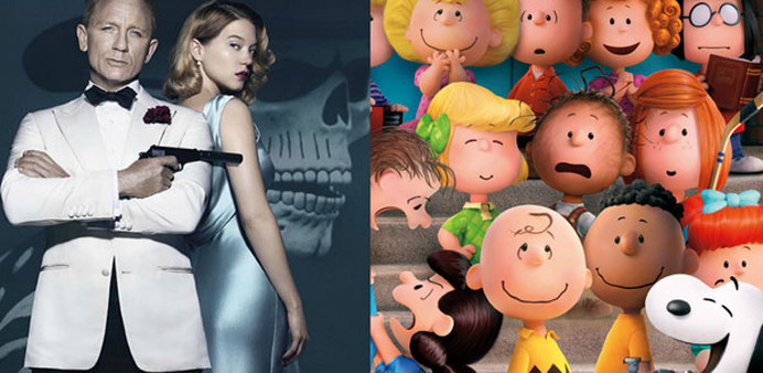 'Spectre' tops 'Peanuts Movie' with $73 million