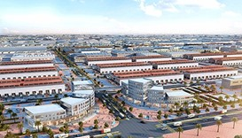 A computer generated image of the proposed Dubai Wholesale City.