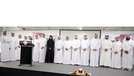 Dignitaries, officials and MoTC partners at the event held to mark the completion of the first 100 I