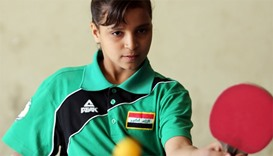 Wounded in bombing, Iraq girl now rising table tennis star