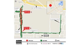 Temporary diversion on part of Al Shafi Street