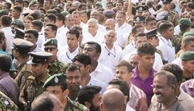 Lanka's ruling party launches protest against opposition
