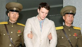 Otto Frederick Warmbier (C), a University of Virginia student who was detained in North Korea