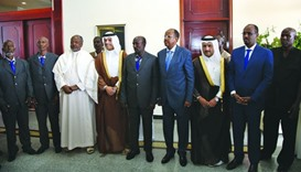 Released Djiboutian PoWs with HE the Foreign Minister Sheikh Mohamed bin Abdulrahman al-Thani.