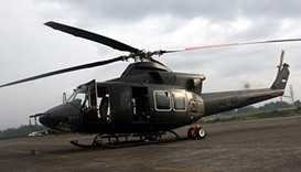 A Bell 412 helicopter of Indonesian military