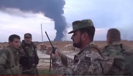 Syrian army on the outskirts of the Palmyra military airport