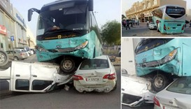 Karwa school bus involved in freak accident
