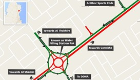 Diversion in Al Khor from Thursday