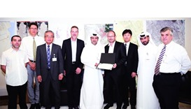 Ashghal's al-Khayarein honouring the project contractor Suez – Marubeni joint venture as other offic
